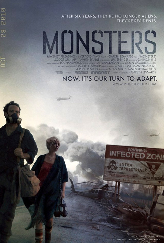 Gareth Edwards' Monsters Poster