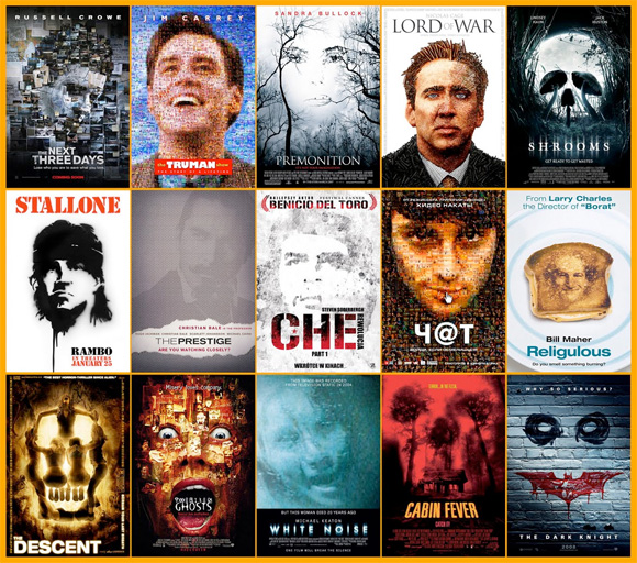 Movie Poster Trends - Mosaic Faces