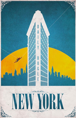 Justin Van Genderen - Travel Poster - New York Spider-Man