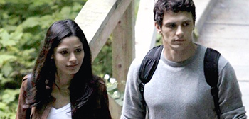 James Franco and Freida Pinto in Rise of the Apes
