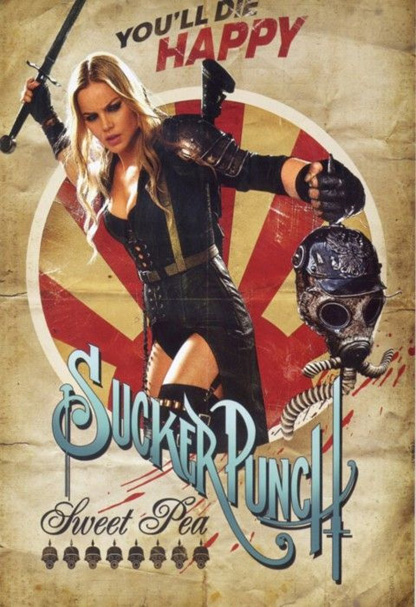 Sucker Punch Vintage Poster - Sweet Pea