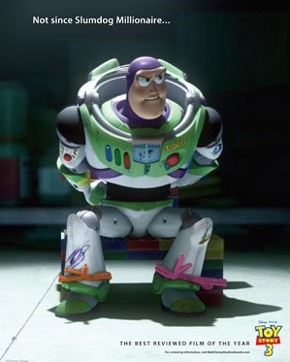 Toy Story 3 Oscar ad - Slumdog Millionaire