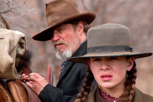 Jeff Bridges & Hailee Steinfeld in True Grit