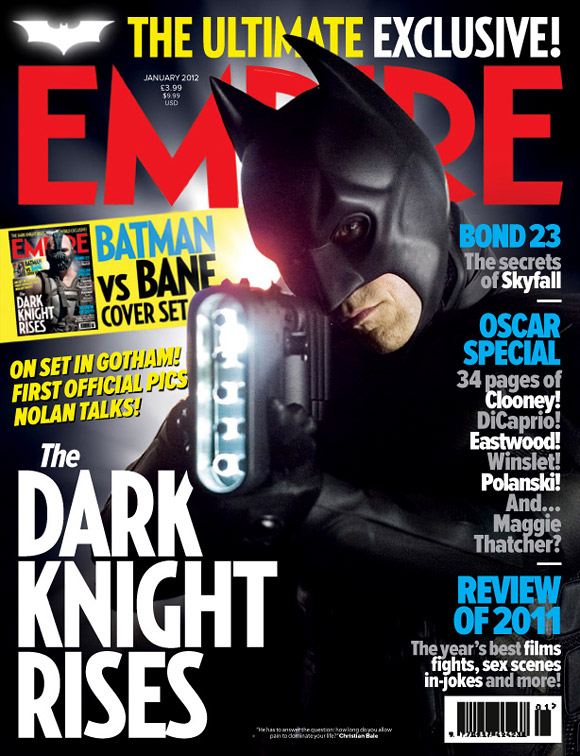 The Dark Knight Rises Empire Magazine Cover - Batman