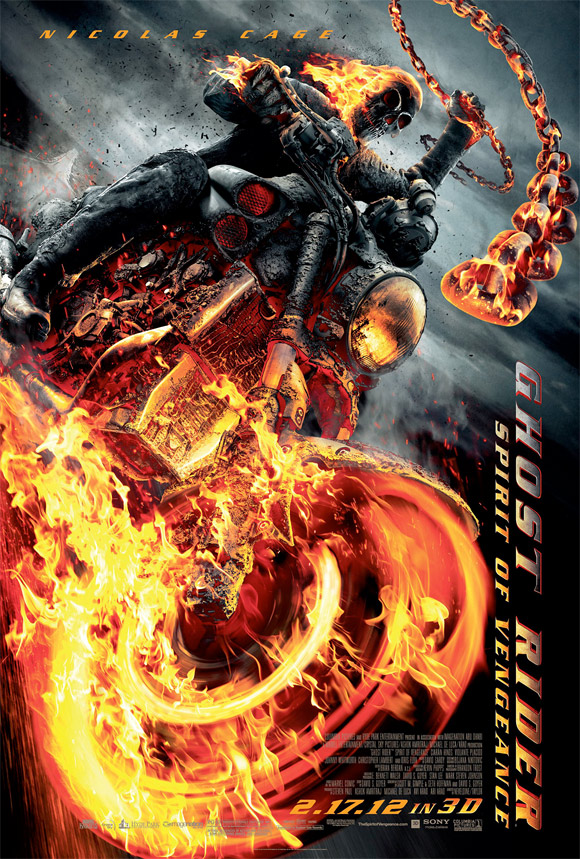 Official Ghost Rider: Spirit of Vengeance Poster