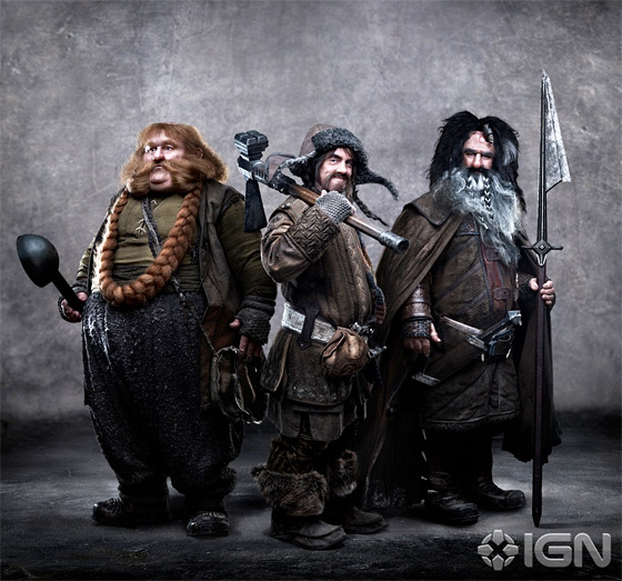 Bombur, Bofur and Bifur in The Hobbit