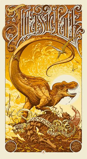 Aaron Horkey Jurassic Park Mondo Poster