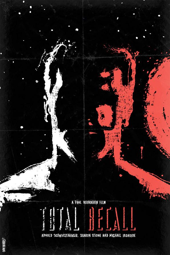Dan Norris - Schwarzenegger Series Poster - Total Recall