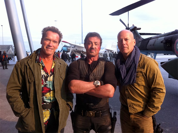 Back in action for The Expendables 2!