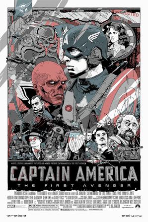 Captain America Tyler Stout Poster