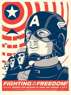 Captain America Eric Tan Poster