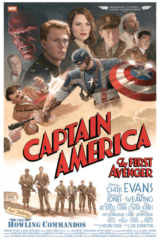 Captain America: The First Avenger Retro Poster