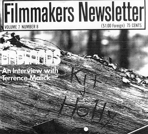 Filmmaker's Newsletter Cover - An Interview with Terrence Malick