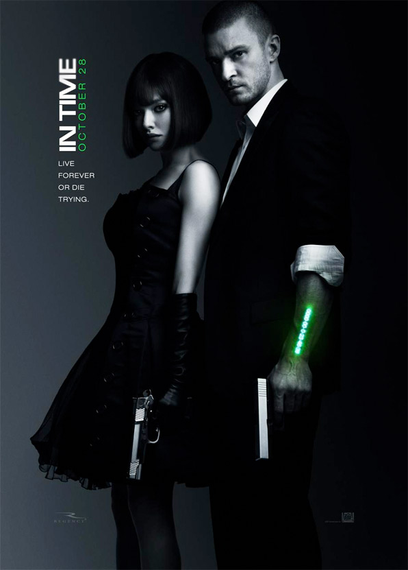 Movie News : 'IN TIME' Official Poster Ft Justin Timberlake and Amanda Seyfried