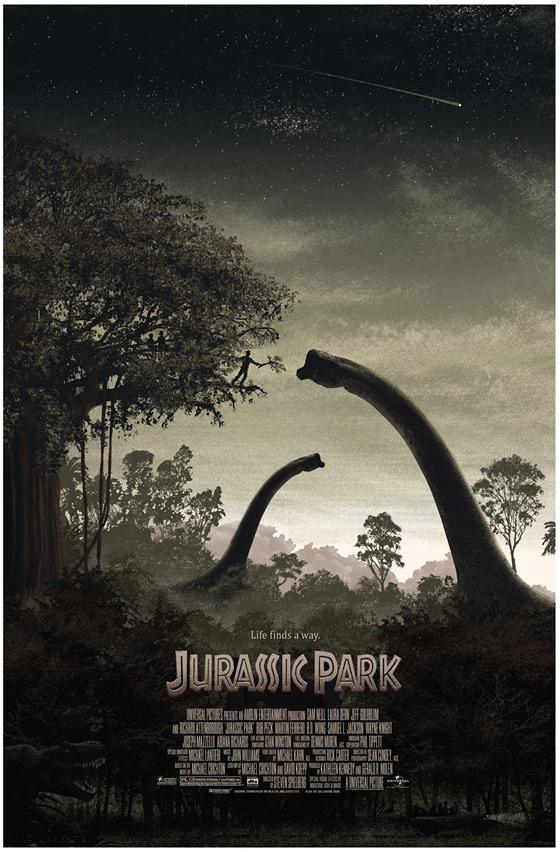 J.C. Richard's Jurassic Park Poster - Directed by Steven Spielberg