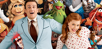Jason Segel & Amy Adams in The Muppets