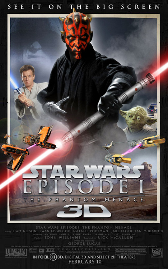 Star Wars Episode I: The Phantom Menace in 3D Poster