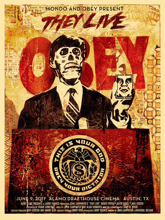 Shepard Fairey - They Live Poster