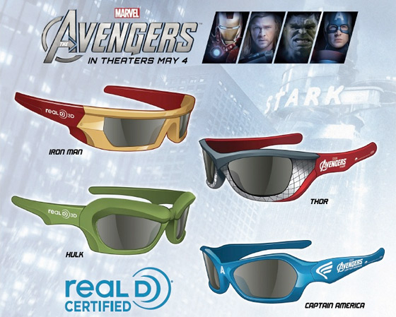 The Avengers - 3D Glasses Promo