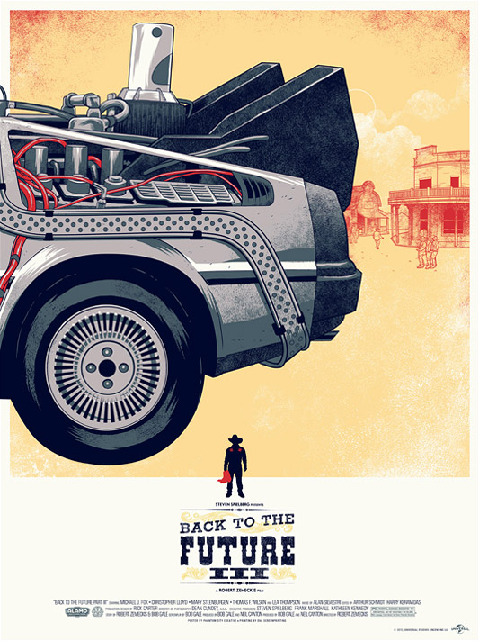 Mondo Back to the Future Poster - Phantom City Creative