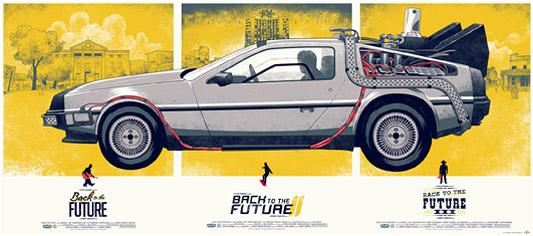 Mondo Back to the Future Poster - Phantom City Creative