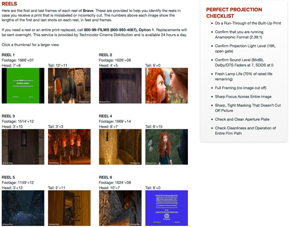 Pixar Projection Website