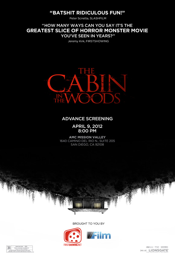 The Cabin in the Woods Poster & Screening