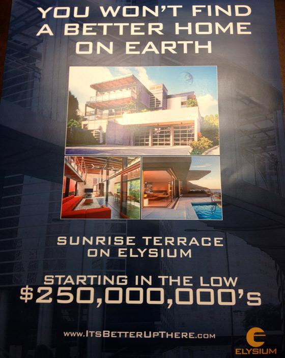 Elysium Viral Comic-Con 2012 Flyer