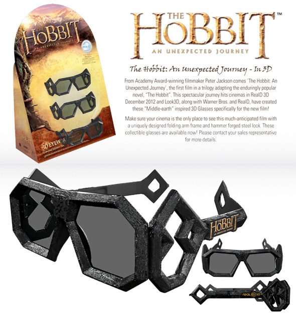 The Hobbit 3D Glasses