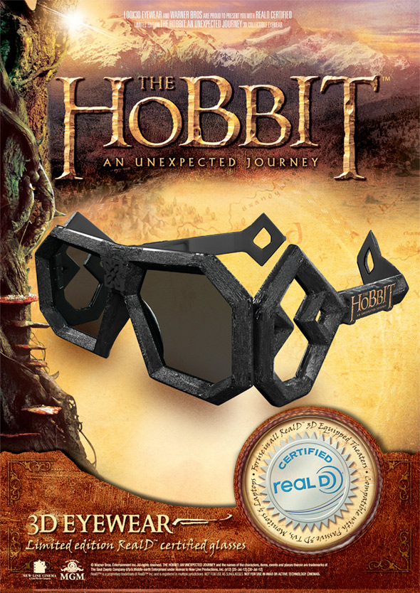 The Hobbit 3D Glasses