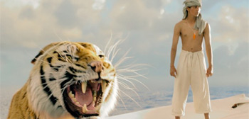 Life of Pi Boy & Boat & Tiger