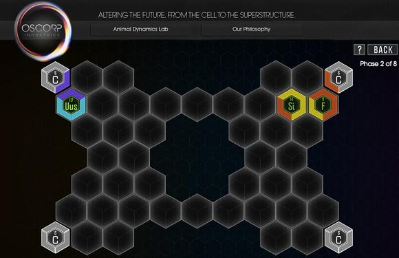 Oscorp Chemical Bonding Game