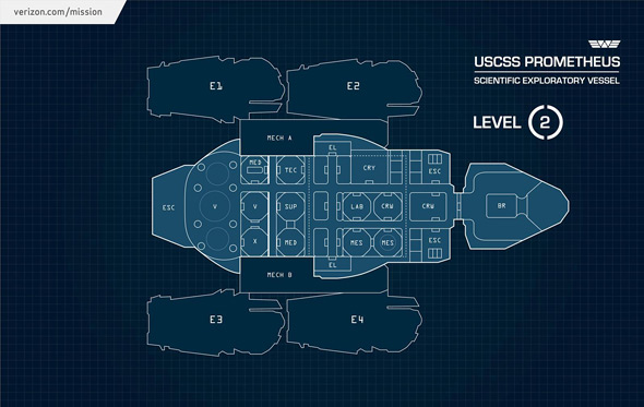 USCSS Prometheus Blueprint