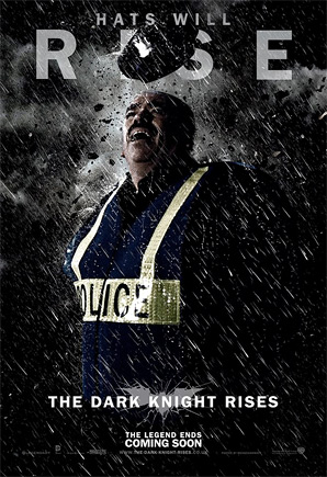 The Dark Knight Rises Poster - Hats Will Rise