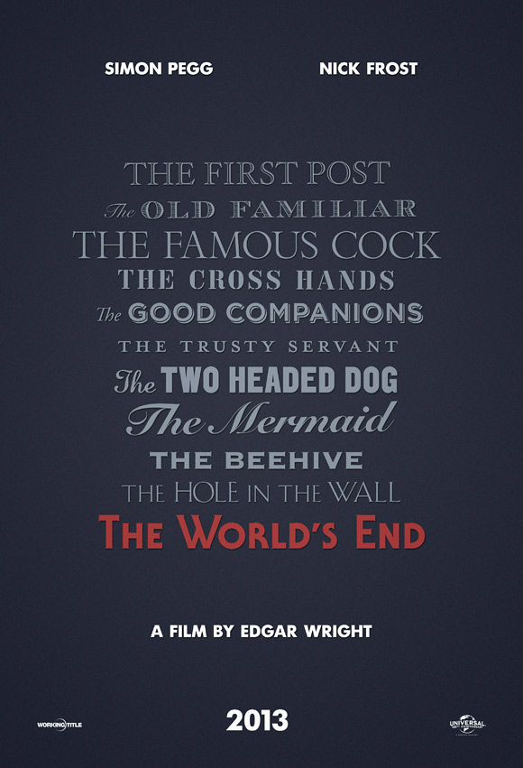 Edgar Wright's The World's End Teaser Poster