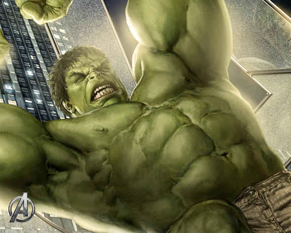 The Avengers Illustrated Wallpaper - Hulk