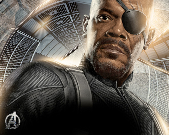 The Avengers Illustrated Wallpaper - Nick Fury