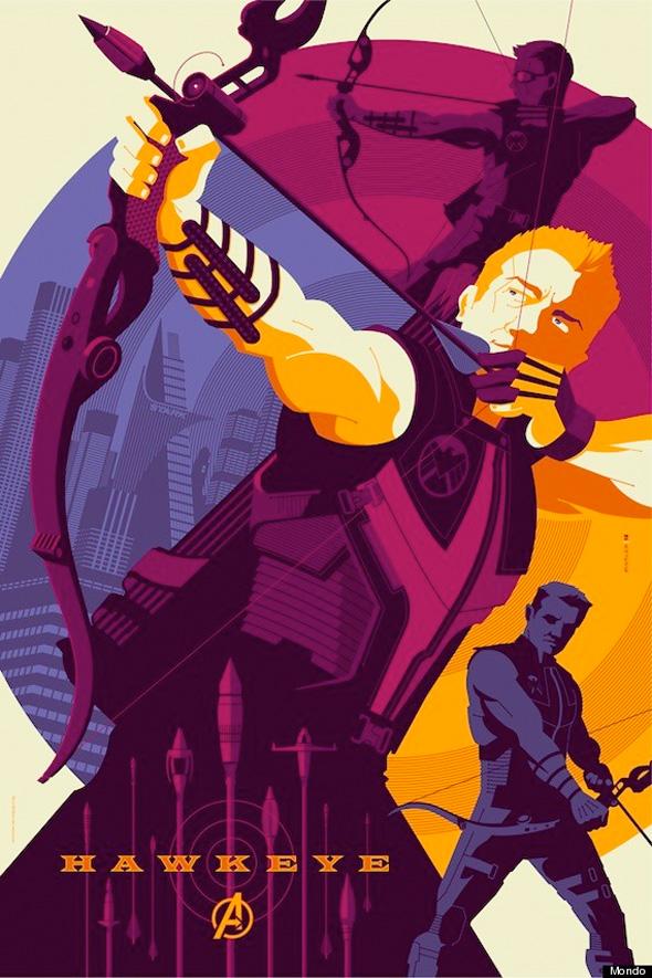 The Avengers - Hawkeye Mondo Poster