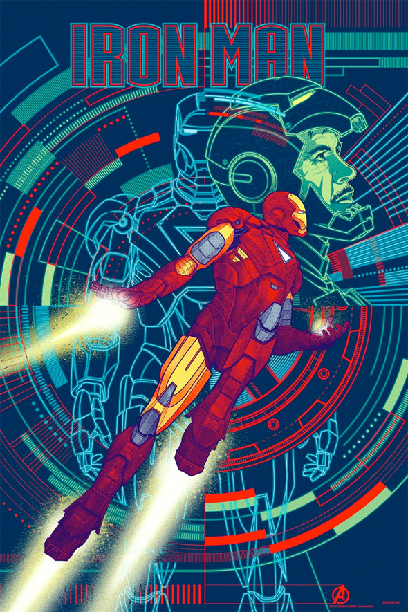 The Avengers - Iron Man Mondo Poster