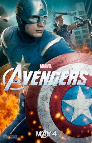 The Avengers - Captain America & Hawkeye Poster