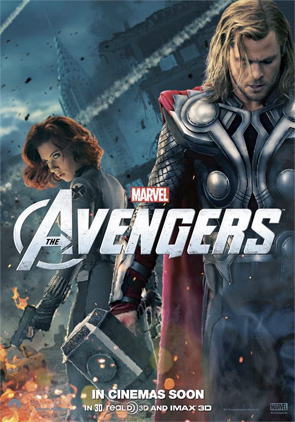 The Avengers - Thor & Black Widow Poster