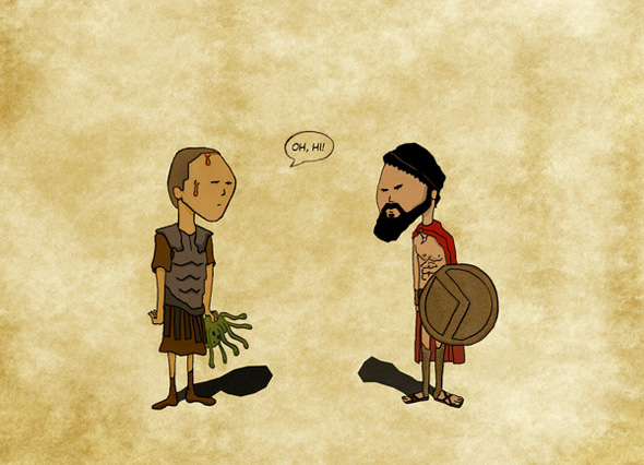 Oh Hi - Perseus and Leonidas