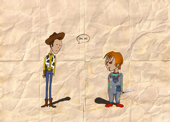 Oh Hi - Woody and Chucky