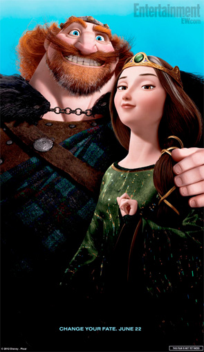 Brave Poster - King Fergus and Queen Elinor