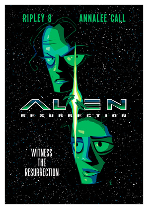 Cartoon Movie Posters - Alien Resurrection