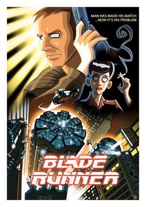 Cartoon Movie Posters - Blade Runner