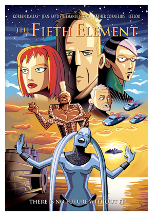 Cartoon Movie Posters - The Fifth Element