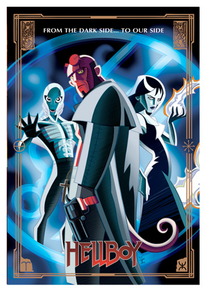 Cartoon Movie Posters - Hellboy