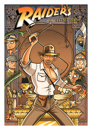 Cartoon Movie Posters - Raiders of the Lost Ark