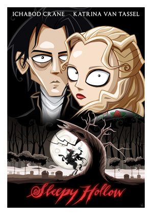 Cartoon Movie Posters - Sleepy Hollow